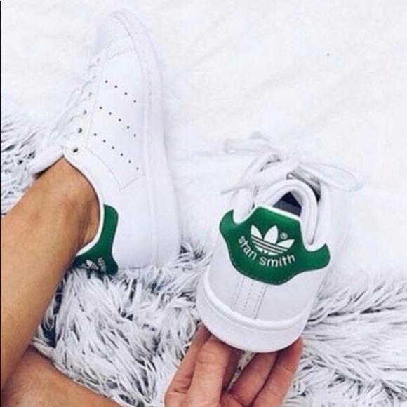 promo code 46ae1 ea47b Adidas Stan Smith Green Women's Sneaker